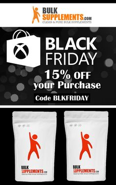 Bulk Supplements is offering 15% discount on Black Friday Sale.This deal is currently activated on the site.  For more BulkSupplements Coupon Codes:  http://www.couponcutcode.com/stores/bulksupplements/