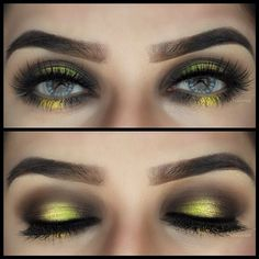 Very Dramatic. Maybe eye makeup for Bubble Bee costume for Halloween?