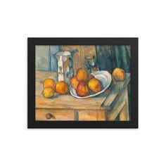 Paul Cézanne Art Print Still Life with Milk Jug and Fruit   Etsy