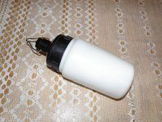 Vintage Soviet industrial milk glass lamp. Old vintage