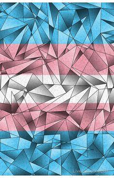 Abstract Transgender Flag