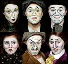 """Excellent mask theatre """"Dublin by Lamplight"""" production by Traverse Theatre Company."""