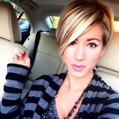 Latest Popular Short Straight Hairstyle with Long Bangs