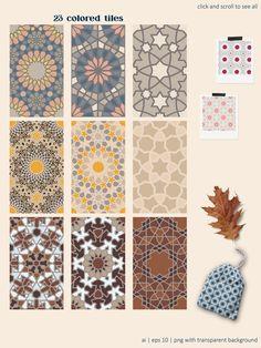 Arabesque: Islamic art patterns by Mona Ahmed on @creativemarket Monochrome Pattern, Geometric Pattern Design, Pattern Designs, Surface Pattern Design, Geometric Art, Art Patterns, Pattern Art, Mandela Art, Arabic Calligraphy Design