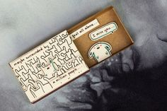 """Items similar to Cute """"I miss you"""" Card Matchbox/ Gift box / Message box """"Maybe surrounded by a million people"""" on Etsy"""