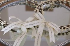 Greek Wedding Shop - Personalised Wedding Crowns With Ivory Floral Berries. Wedding Crowns for your Greek Orthodox wedding ceremony (http://www.greekweddingshop.com/personalised-wedding-crowns-with-ivory-floral-berries/)