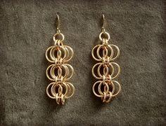 Reverb Earrings in Gold