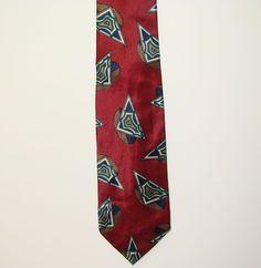 Talbott Studio Carmel Valley Mens Crimson 100% Silk Dress Neck Necktie Tie 58in #RobertTalbott #Tie