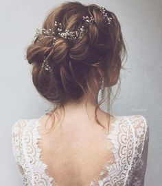 Wedding Hairstyles Updo Romantic Wedding Braided Updo with Flowers (short updo wedding braids) - Your hair is just as important as the other details on your big day. Get it right by using these romantic wedding hairstyles for long hair as inspiration. Rustic Wedding Hairstyles, Wedding Hairstyles For Long Hair, Wedding Hair And Makeup, Bride Hairstyles, Hair Makeup, Hair Wedding, Hairstyle Wedding, Whimsical Wedding Hair, Hair Updo
