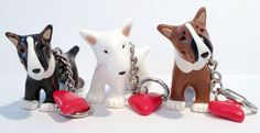 Bull Terrier key rings https://www.facebook.com/PeculiarPals/photos/a.122879801128470.30709.109383759144741/581550401928072/?type=3