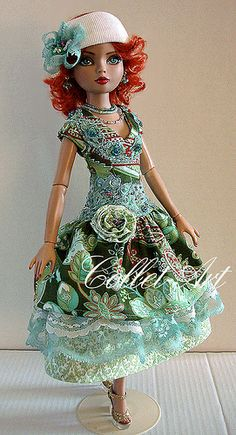 """2012 ELLOWYNE WILDE PRUDENCE MOODY IMPERIUM PARK OOAK OUTFIT """"COLORFUL ME - GOOD-BYE ENNUI!"""" BY COLLET-ART 
