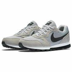Ad(eBay) Nike MD Runner Textile Mens Trainers Running Grey/Black/White Footwear Sneakers