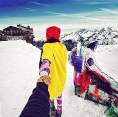 Murad Osmann and Nataly Osmann: Follow me to the French Alps