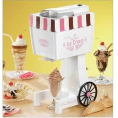 Nostalgia Electrics 562 Ice Cream Maker >>> Read more details by clicking on the image. Food Processor Reviews, Best Food Processor, Ice Cream Machine Rental, Ice Cream Maker, 10 Year Old Gifts, Dining Set For Sale, Hand Held Blender, Old Fashioned Ice Cream, Kitchen Island On Wheels