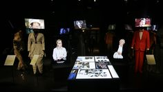 In specially commissioned interviews, Meryl Streep and Robert DeNiro talk about their motivations, their 'behind the scenes' view of how they work with costume designers and costume to create their craft – surrounded by costumes from their more famous characters. Casson Mann use flat screens set into the back of chairs to create a sense of presence.