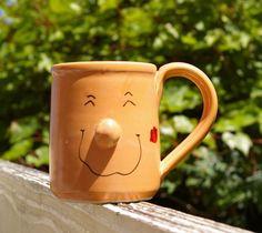 Bev Freeburg Handmade Pottery Art Coffee Mug Face Lipstick Kiss Mark on Cheek Too Faced Lipstick, Lipstick Kiss, Kiss Mark, Face Mug, Handmade Pottery, Pottery Art, Coffee Mugs, Tableware, Projects