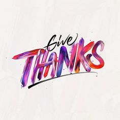 Always give thanks | Happy Thanksgiving 💜 #typegang #lettering #thedesignfix #thanksgiving #type #calligraphy #brush #brushlettering #thedesigntip #photoshop #adobe #adobecreative