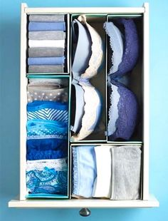 DIY Ideas With Shoe Boxes - Shoe Boxes as Drawer Dividers - Shoe Box Crafts and Organizers for Storage - How To Make A Shelf, Makeup Organizer, Kids Room Decoration, Storage Ideas Projects - Cheap Home Decor DIY Ideas for Kids, Adults and Teens Rooms Closet Shoe Storage, Small Closet Organization, Home Organization Hacks, Storage Hacks, Diy Storage, Storage Ideas, Organization Ideas, Drawer Ideas, Clothes Storage