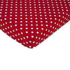 Sweet Jojo Designs Little Ladybug Fitted Crib Sheet - Dot