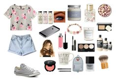 """""""Untitled #38"""" by maayan-styles ❤ liked on Polyvore featuring moda, H&M, Lollia, Converse, Common Good, Tromborg, Stila, Bobbi Brown Cosmetics, Butter London e Duffer Of St George"""
