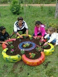 Flower garden take action project. Just find someone to care for it after you make it