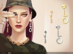 Love Earrings by toksik at TSR via Sims 4 Updates