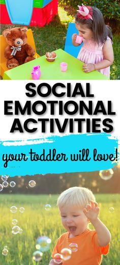 Learn what social and emotional development looks like during the toddler years from a developmental therapist.  Discover simple ways to promote social skills through simple play activities and daily routines.