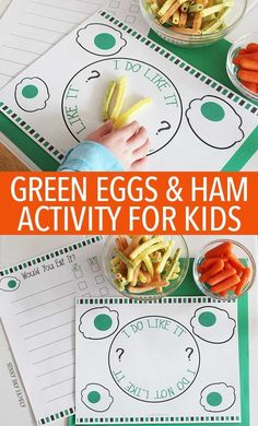 Let Sam I Am help you encourage your kids to try new food with this fun Green Eggs & Ham activity! Includes free printables to make tasting new food fun and interactive - perfect for picky toddlers and preschoolers. Dr. Seuss   Green Eggs & Ham   Free Printable