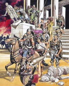 The Vandal sack of Rome in 455 AD, was a more brutal affair than the Gothic sack…