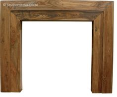 Vermont Fireplace Surround Natural Hardwood      Solid Sheesham     Available in Natural finish     (version shown)     Suitable for all our cast iron insets Online Sale Price: £275.00 r.r.p: £357 saving: £82