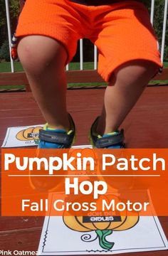 Fall Gross Motor Game - Pumpkin Patch Hop. Fun way to get in brain breaks and movement with an autumn theme!