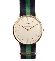 Warwick Watch by Daniel Wellington $189 | We dare anyone not to fall in love with these preppy cool time pieces. The refined and minimalist watches by Daniel Wellington are designed for the gentleman with classic sensibility- the striped Nato straps originated with the British Navy divers. Even Bond wore one. | GOTSTYLE.ca