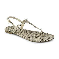 Bongo Women's Zearing Natural Snakeskin Print Slingback Sandal