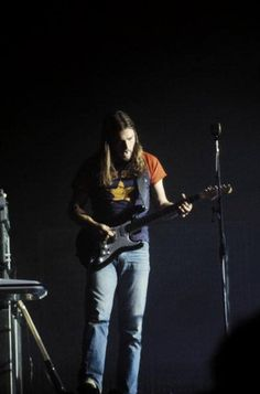 David Gilmour performing on Pink Floyd's Dark Side tour, Wembley, London, England, United Kingdom, 1973