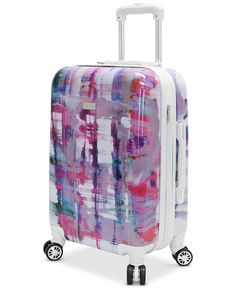 """Steve Madden Plaid 20"""" Expandable Hardside Carry-On Spinner Suitcase - Upright Luggage - Macy's"""