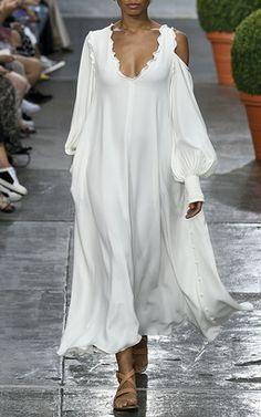 Tibi SS17 - Edwardian Open Shoulder Dress