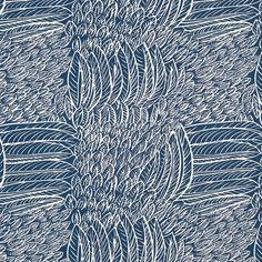 Featherfest | 176233 in Navy | Schumacher Fabric |  A captivating plaid-like pattern of juxtaposed, stylized feathers. Inspired by a document in our archives and a favorite of Jacqueline Kennedy Onassis. Also available as a wallcovering.
