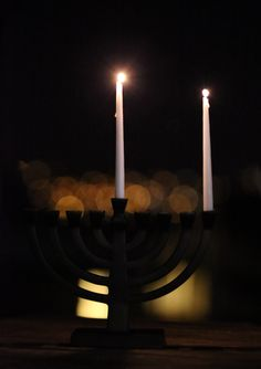 menorah first night of hanukkah pimpauline.com - scandelicious.com