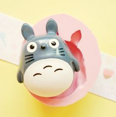 30mm Totoro Flexible Silicone Mold - Decoden Kawaii Sweets Resin Fimo Polymer Clay Sculpey Wax Soap Fondant Cabochon