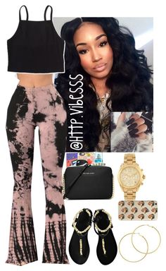 A fashion look from October 2016 featuring Aéropostale tops, Ancient Greek Sandals sandals and MICHAEL Michael Kors shoulder bags. Browse and shop related look… Baddie Outfits Casual, Cute Swag Outfits, Dope Outfits, Outfits For Teens, Trendy Outfits, Girl Outfits, Fashion Outfits, Look Body, Look 2018