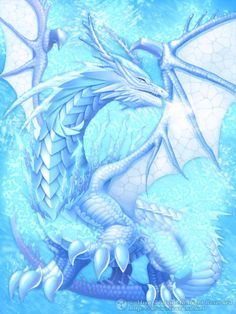 This is Borealis. He's an ice dragon! He's tame but aggressive. He loves to cuddle and likes a lot of attention, although that can be both a good and bad thing. He likes to make new friends and fly above the clouds! However, when provoked, he can become very mean and it'll take a while for him to calm down...