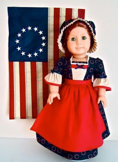 RESERVED FOR SYD Felicitys Betsy Ross Gown by BackInTimeCreations, $46.00