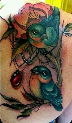Birds tattoo by Kelly Doty