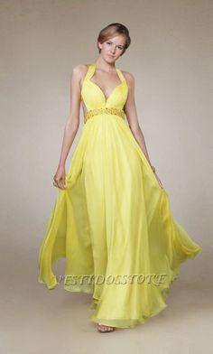 vestidos amarillos de fiesta