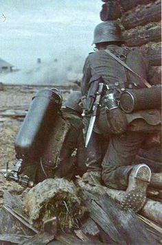 German flamethrower team on the Eastern Front