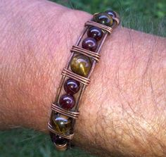 Mens Copper Viking Knit / Wire Wrapped Bracelet  by NorseFindings, $40.00