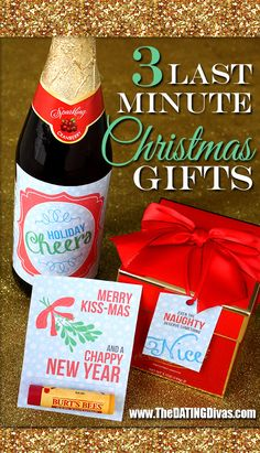Score!  FREE printables for three easy, last minute Christmas gifts.