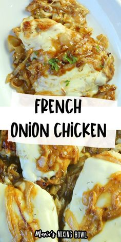 Meat Recipes, Healthy Dinner Recipes, Chicken Recipes, Cooking Recipes, Tasty Dishes, Food Dishes, Main Dishes, Turkey Cutlets, French Onion Chicken