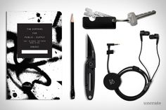 Blackwing Pencil Vol. 24 ($25). Kiki Keyring Tool ($20+). Public Supply Tim Coppens Notebook ($20). B&O Play H3 Earphones ($250). CRKT P.E.C.K. Knife ($35)....