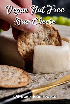 Creamy, rich, and buttery smooth, this Vegan Brie is not only incredibly easy to make, but it's also deliciously similar to its dairy counterpart. #zardyplants #vegancheese #plantbased #veganbrie #zardyplants Vegan Cheese Recipes, Vegan Snacks, Vegan Appetizers, Vegan Meals, Vegan Vegetarian, Vegetarian Recipes, Vegan Raw, Vegetarian Cheese, Vegan Food